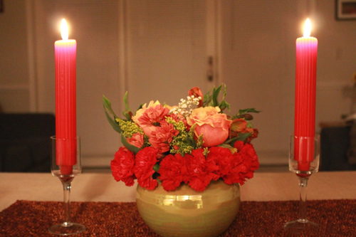 Do a candlelight dinner at home
