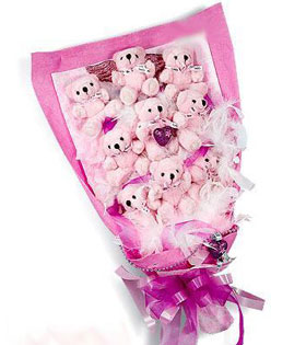 9 Bears Bouquet