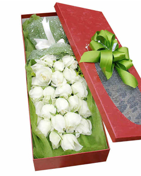 White Rose In Box
